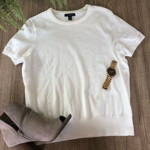 Land's End short sleeve sweater size med